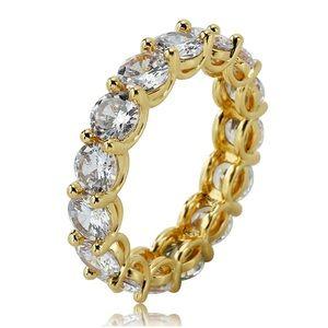 Jewelry - Beverly Round Cut Cz Diamond Band   5mm